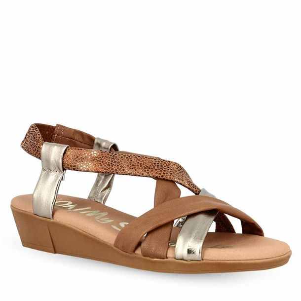 Women's Leather Heeled Sandals Oh My Sandals 4565