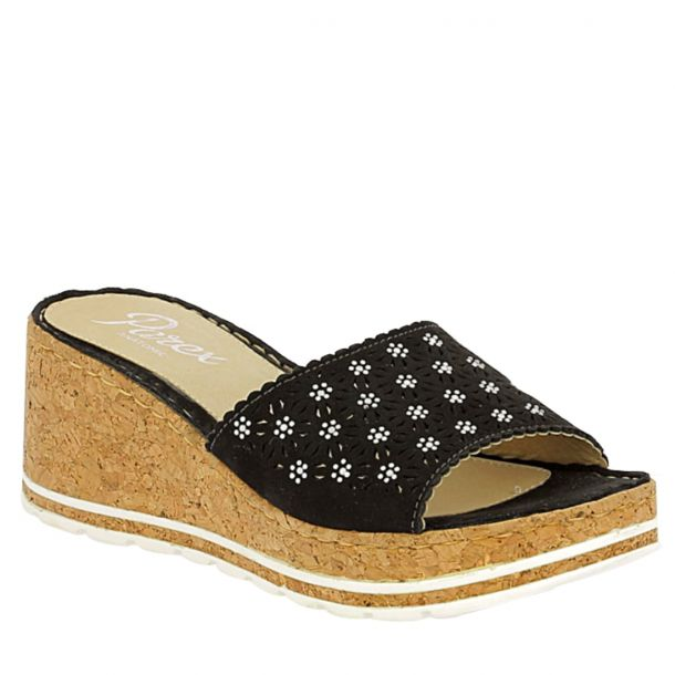 Women's Mule Embellished Platform Wedges Parex