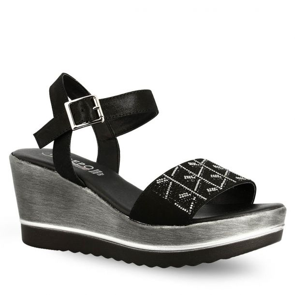 Women's Leather Platform Wedges Repo 19207