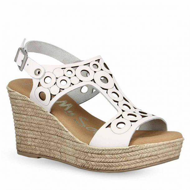Women's Leather Platform Wedges Oh My Sandals 4597
