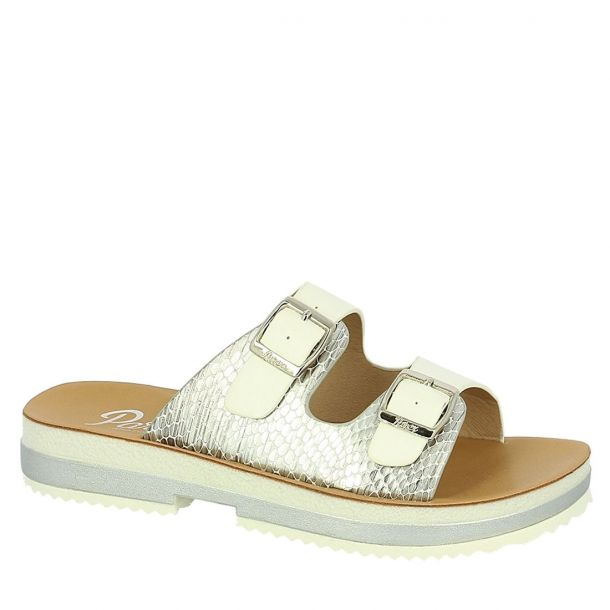 Women's Comfort Mules With Straps & Buckles Parex