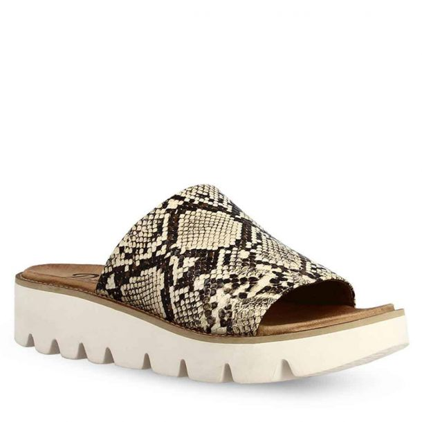 Women's Snakeprint Comfort Slides Parex 12121013