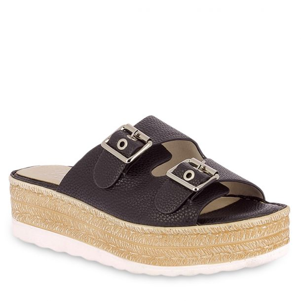 Women's Flatforms With Buckles Parex