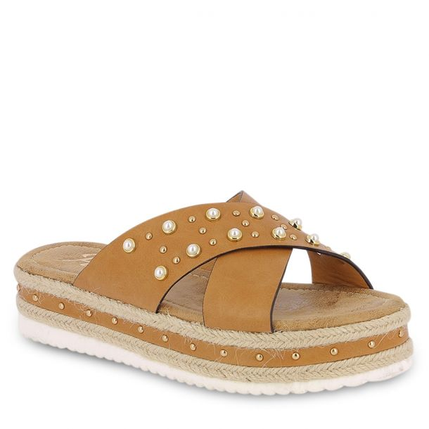 Women's Flatforms With Straps Parex