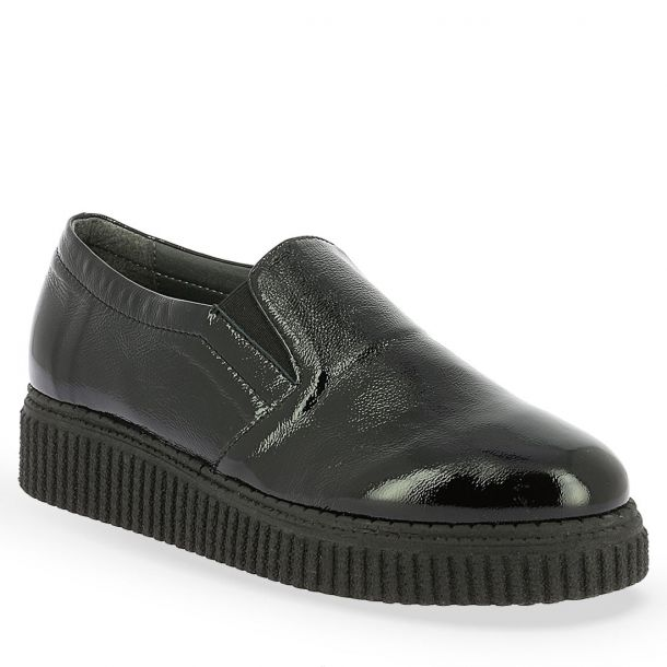 Women's Patent Leather Slip On Shoes Parex