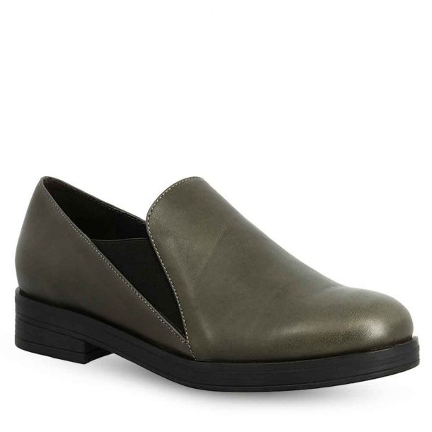 Women's Leather Slip On Shoes Parex 12922013