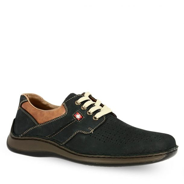 Man's Leather Casual Shoes  Rieker 05207-14