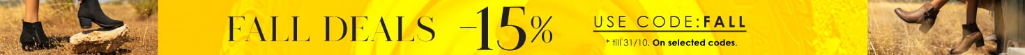 Fall Deals -15% on selected items | Parex Shoes